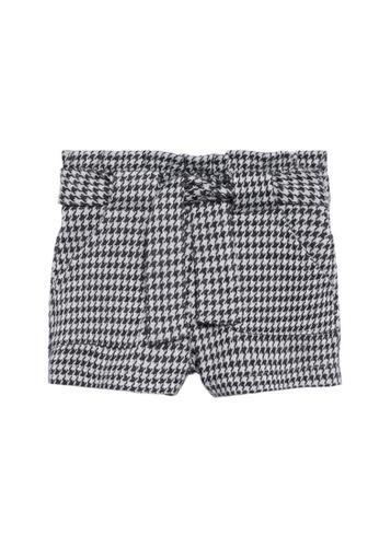 MANGO BABY black Houndstooth Shorts 2BBECKA4712BADGS_1