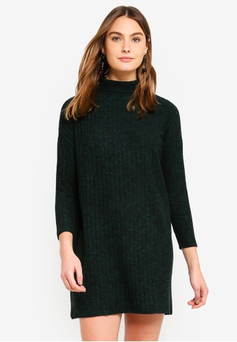 Dorothy Perkins 綠色 Green Brushed Jumper Dress C1FFCAAAEFA403GS_1