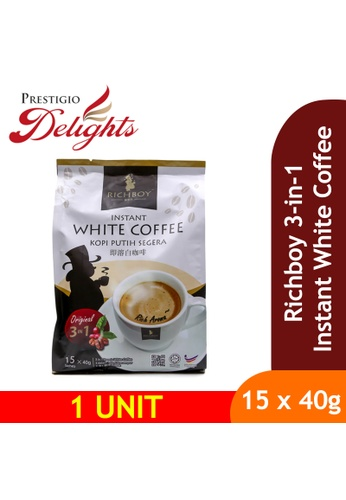 Prestigio Delights black Richboy 3 in 1 Instant White Coffee (15 x 40g) A4E7AES89E9B9FGS_1