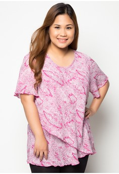 Short Sleeve Plus Size Blouse