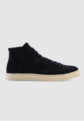 Selected Homme navy David High Top Trainers 4621CSHAB375F6GS_1