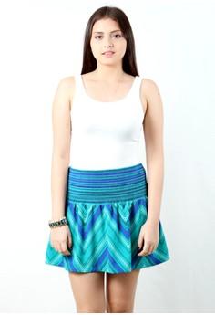 Twenteen's Naomi Smocked Waist Mini Skirt