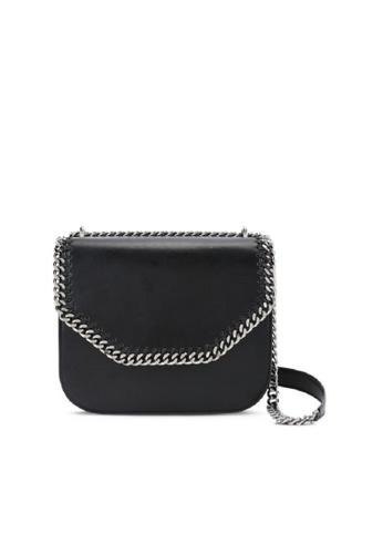 Stella Mccartney black STELLA MCCARTNEY FALABELLA BOX SHOULDER BAG 95C83AC656667FGS_1