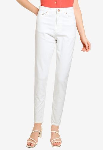 Electro Denim Lab white Quantic Tapered Mom Jeans 04207AA0C11DE2GS_1