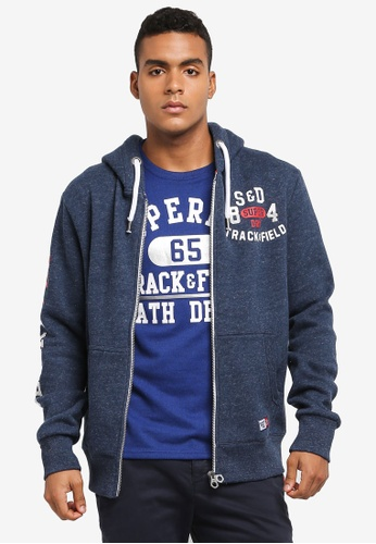 Superdry blue TRACKSTER ZIPHOOD 24C1AAA6420036GS_1