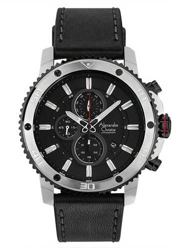 Alexandre Christie black Alexandre Christie Jam Tangan Pria - Black Silver - Leather Strap - 6509 MCLTBBA 3076EAC0BAF26CGS_1