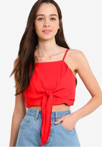 Something Borrowed 紅色 短版綁帶上衣 A05F7AA635EF3CGS_1