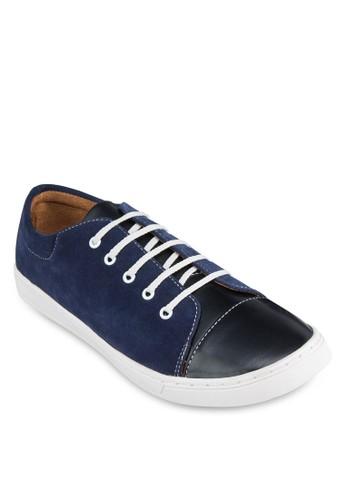 雙色zalora 台灣門市仿皮繫帶運動鞋, 鞋, 休閒鞋