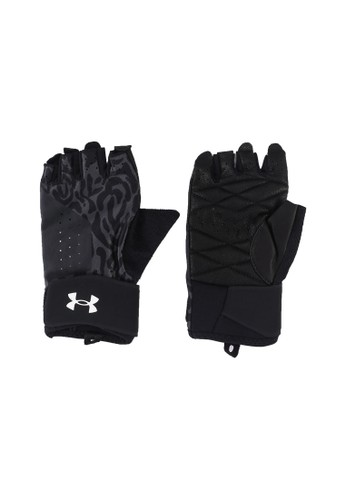 Under Armour grey Graphic Weightlifting Gloves B1FEFAC526906DGS_1