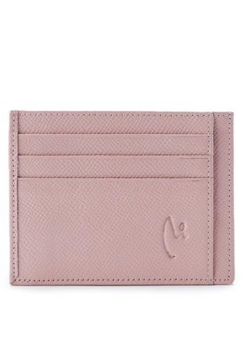 Vermont pink Genuine Leather Slim Card Holder B3352AC4ECCBD8GS_1