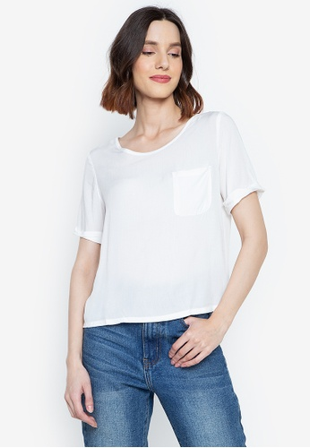 Stylistic Mr. Lee white Basic Boxy Fit Top AD1F7AA9A04D67GS_1