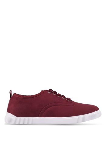 ZALORA red Grosgrain Binding Sneakers 7885CSH028E079GS_1