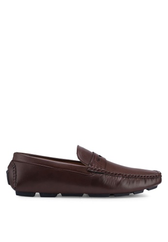 Carlton London brown Slip On Loafers C6B17SH882851FGS_1