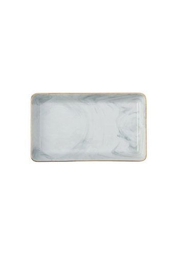 DILAS HOME Gold x Marble Effect Tray - Big 48674HLC2951D0GS_1