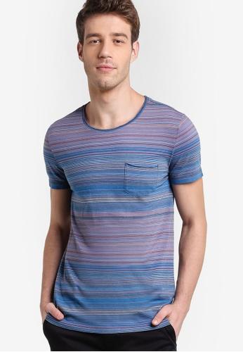Boss Orange blue and multi Tedryk T-Shirt BO434AA84MHBMY_1