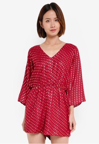 Y.A.S red Blume Playsuit 1001EAAF5845C9GS_1