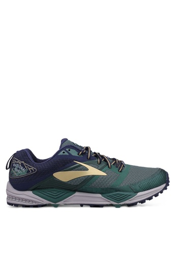 Brooks green Cascadia 12 Shoes 5CA3FSH14EFC88GS_1