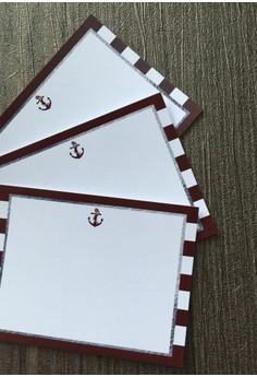 Nautical Notecards - Red 12pcs/set