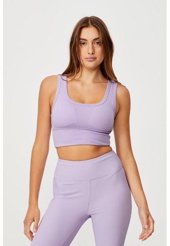 Cotton On Body purple RIB TEXTURE VESTLETTE DEF12AA8681C9AGS_1