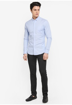 41a0b8c1 8% OFF Topman Muscle Fit Oxford Shirt S$ 59.90 NOW S$ 54.90 Sizes XS S M L  XL