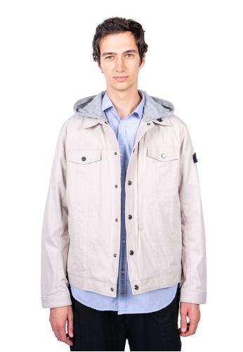 East Pole beige Unisex 14 Pockets Denim Style Jacket 6C63DAAF9C8B0FGS_1