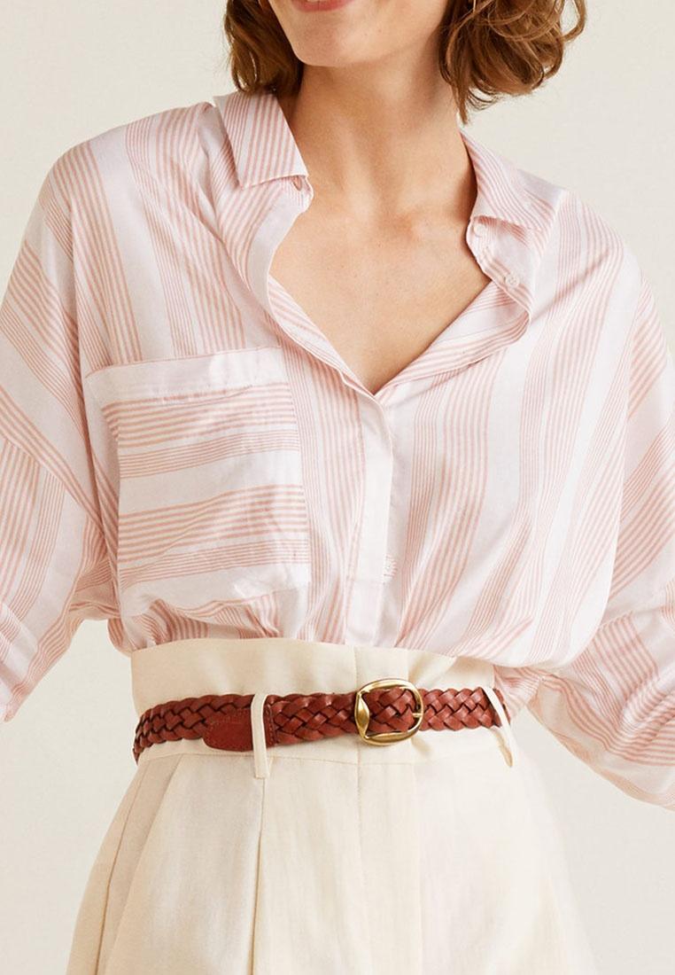 Mango White Shirt Shirt Natural Striped Mango White Striped Natural rqrw1p