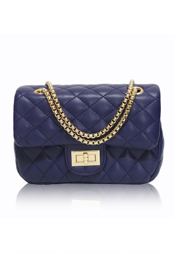 Dazz blue Quilted Crossbody Bag (L) - Blue DA408AC98JERMY_1