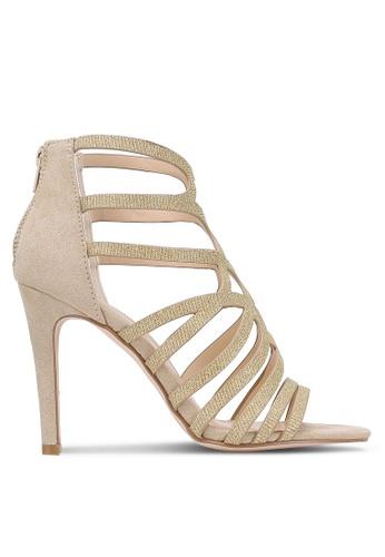 Something Borrowed gold Cut Out Peep Toe Heels 66F98ZZA1A4B2CGS_1
