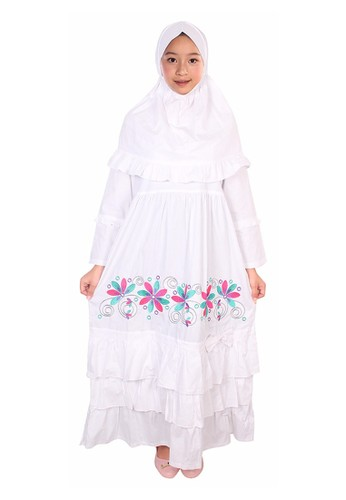 Fayrany white Fayrany Baju Gamis Anak Putih FGP-008 7C7B6KAE0516CEGS_1