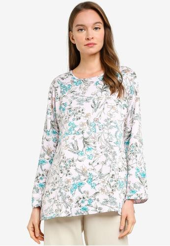 Aqeela Muslimah Wear pink Basic Printed Blouse 1C639AA0531FAEGS_1