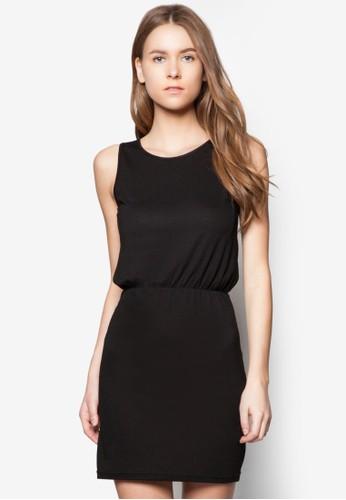 基本款挖zalora 衣服評價背無袖連身裙, 服飾, 洋裝