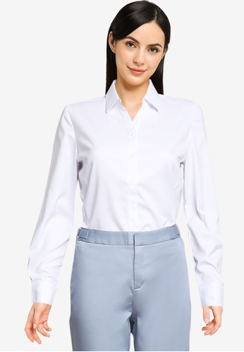 G2000 white Anti-Bacterial Stretch Poly Shirt BD7FBAAA83FD2EGS_1