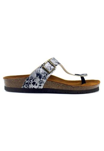 SoleSimple silver Rome - Leopard Silver Sandals & Flip Flops AD3ABSH559B546GS_1