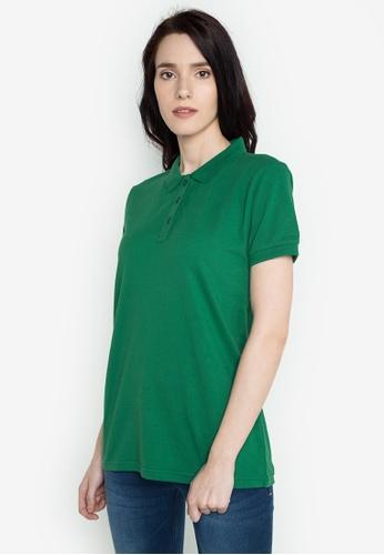 Freego green Ladies Basic Polo Tee FR760AA0JGT0PH_1