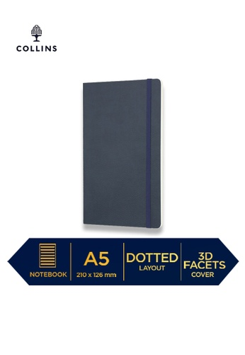 Collins blue Collins Clementine - Notebook A5 Slim Dotted - Navy 82987HLC24ECF9GS_1