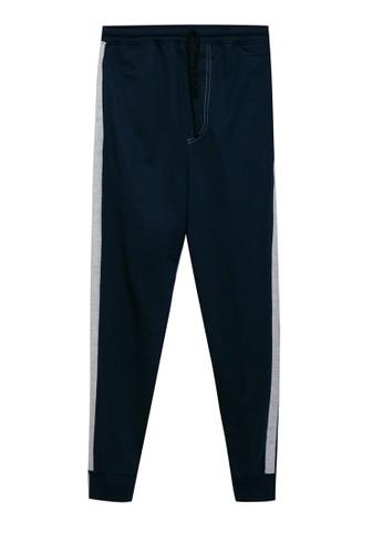 Sport High navy Jogger Traning Pants Basic Stripe Samping 312A3AA4413CC5GS_1