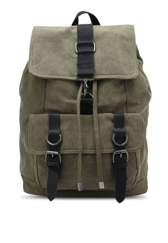 JAXON green Canvas Backpack F4CBDZZ6786773GS_1
