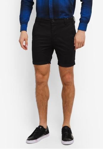Topman 黑色 Owen Chino Shorts TO413AA0SLXPMY_1