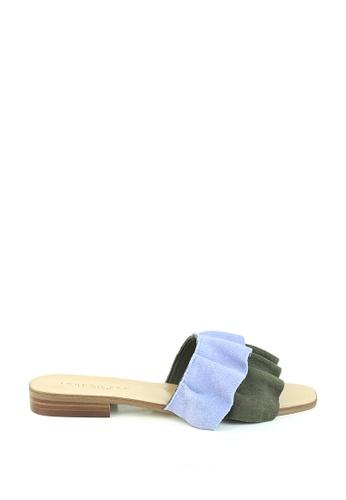 London Rag blue Blue Slip on Leather Sandal 4233CSH6972782GS_1
