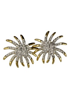 Paris Bijoux PE09788A 22K Gold Plated Earring - Gold Ray