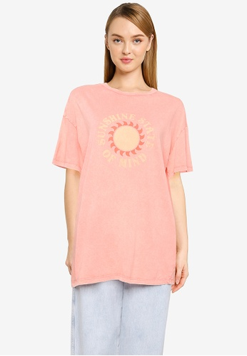 Cotton On orange and multi The Relaxed Boyfriend Graphic Tee 3080CAAA82F836GS_1