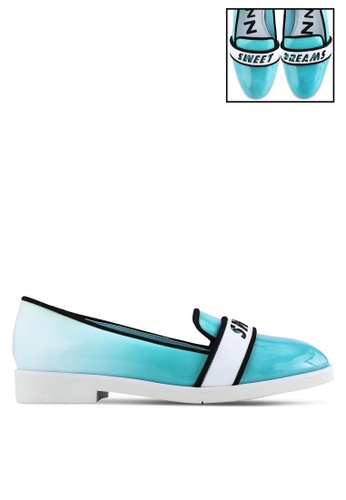 House of Avenues blue Sweet Dream Message Loafers HO685SH94CBHMY_1