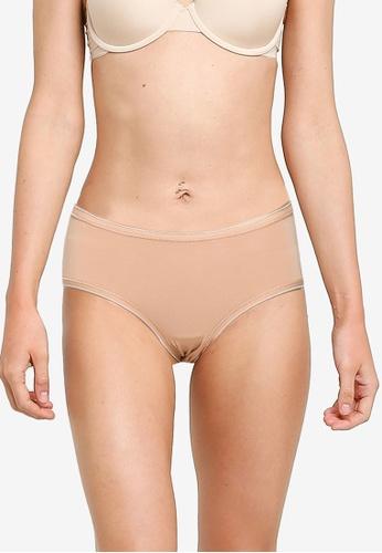 GAP beige Stretch Cotton Hipster Panties 16D38US05C02A6GS_1