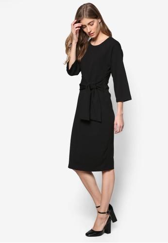 簡約前繫帶及膝esprit 品牌洋裝, 服飾, 洋裝