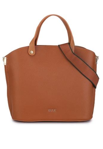 ELLE brown Iris Carry Bag 8258EAC7F93934GS_1