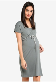 a805e36dcfabb Noppies green Maternity Beitske Nursing Dress 9E998AAE71CBDCGS 1