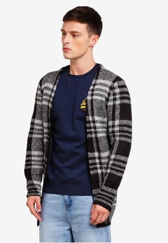 Jack & Jones 黑色 格紋針織罩衫 9061BAAA1B8499GS_1