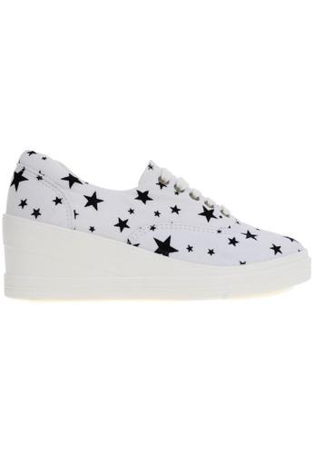 Maxstar white Maxstar 7H 5 Holes Star Shape Pattern Denim Lace Up Sneakers MA164SH12CJRSG_1