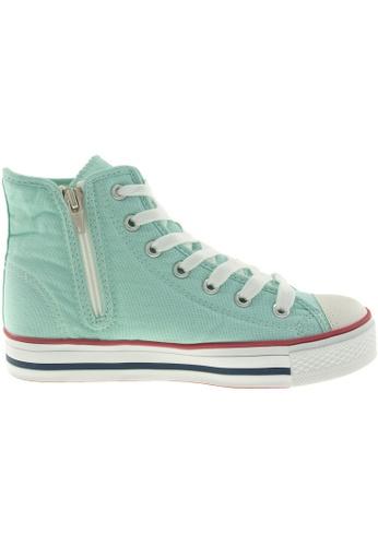 Maxstar green Maxstar Women's C1 7 Holes Canvas High Top Casual Sneakers US Women Size MA164SH97PYGSG_1