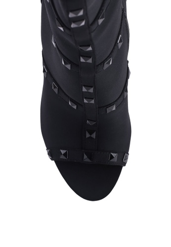 2119b3d2bb2a Buy Public Desire Attitude Studded Peep Toe Ankle Boots Online ...